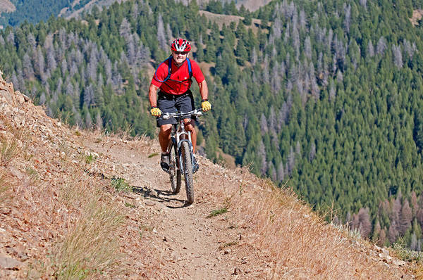 David Weber Photograph - Mountain Biking by Elijah Weber