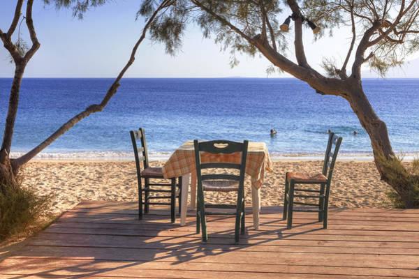 Taverna Photograph - Naxos - Cyclades - Greece by Joana Kruse