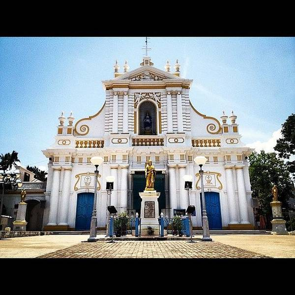 Wall Art - Photograph - #pondicherry #cathedral #architecture by Sahil Gupta