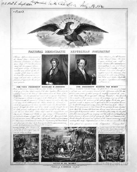 Van Johnson Photograph - Presidential Campaign 1840 by Granger