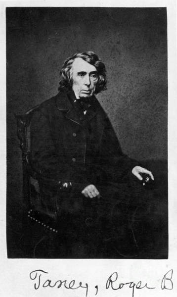 Dred Photograph - Roger B. Taney (1777-1864) by Granger