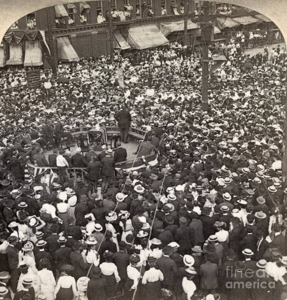 Rutland Photograph - Roosevelt Speech, 1902 by Granger