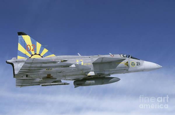 Delta Wing Photograph - Saab Ja 37 Viggen Fighter by Daniel Karlsson