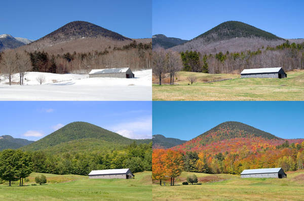 Photograph - 4 Seasons Long Barn Wide by Larry Landolfi