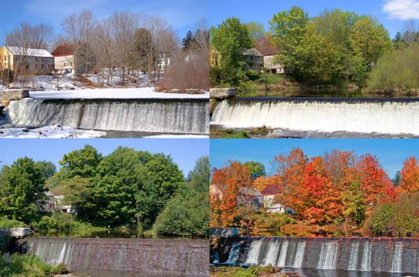 Photograph - 4 Seasons Maine Waterfall by Larry Landolfi