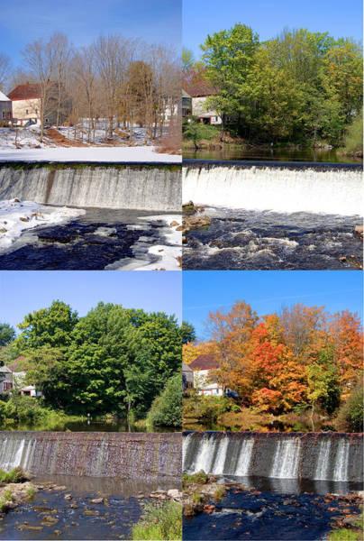 Photograph - 4 Seasons Maine Waterfall Vertical by Larry Landolfi