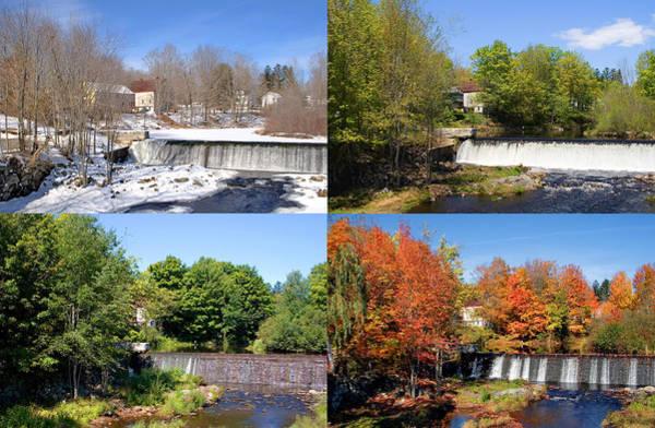 Photograph - 4 Seasons Maine Waterfall Wide by Larry Landolfi