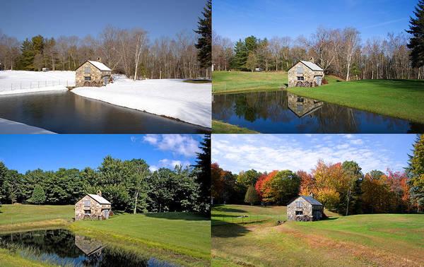 Photograph - 4 Seasons Stone Shed by Larry Landolfi