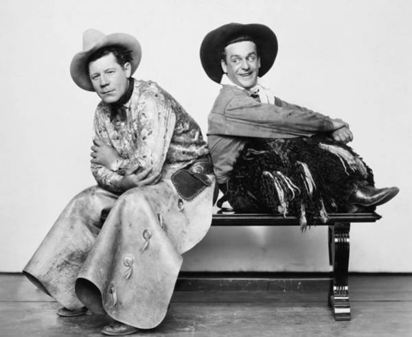 Photograph - Silent Film Still: Cowboys by Granger
