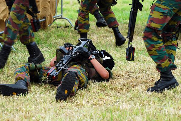 Fnc Photograph - Soldiers Of A Belgian Infantry Unit by Luc De Jaeger