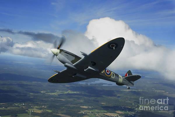 Interceptor Photograph - Supermarine Spitfire Mk.xvi Fighter by Daniel Karlsson