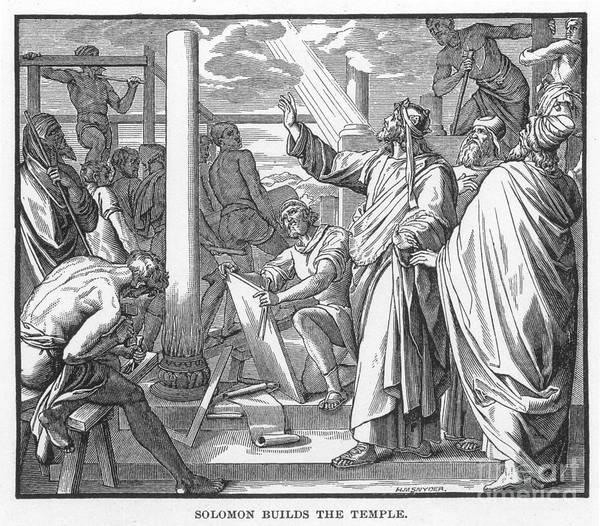Hebrews Photograph - Temple Of Solomon by Granger