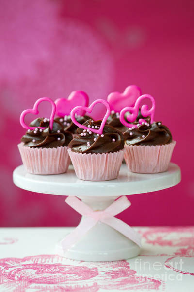 Wall Art - Photograph - Valentine Cupcakes by Ruth Black