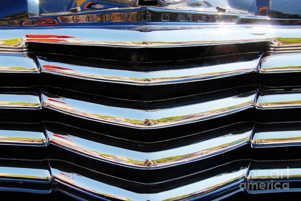Photograph - 48 Chevy Convertible Grill by Anthony Wilkening