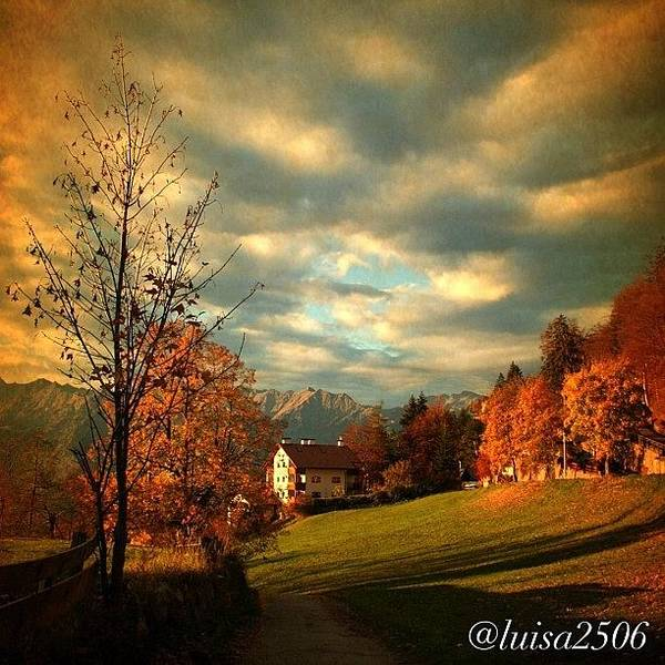 Cloud Photograph - Autumn In South Tyrol by Luisa Azzolini