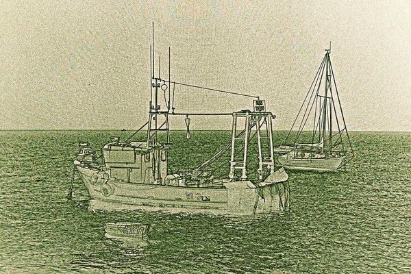 River Thames Digital Art - Fishing Boats Art by David Pyatt