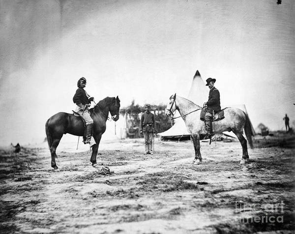 1863 Photograph - George Custer (1839-1876) by Granger