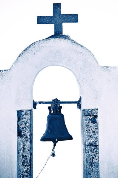 Bell Tower Photograph - Greek Chapel by Joana Kruse