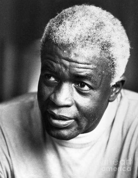Photograph - Jackie Robinson (1919-1972) by Granger