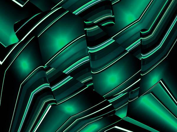Art Print featuring the digital art Light Cones by Mihaela Stancu