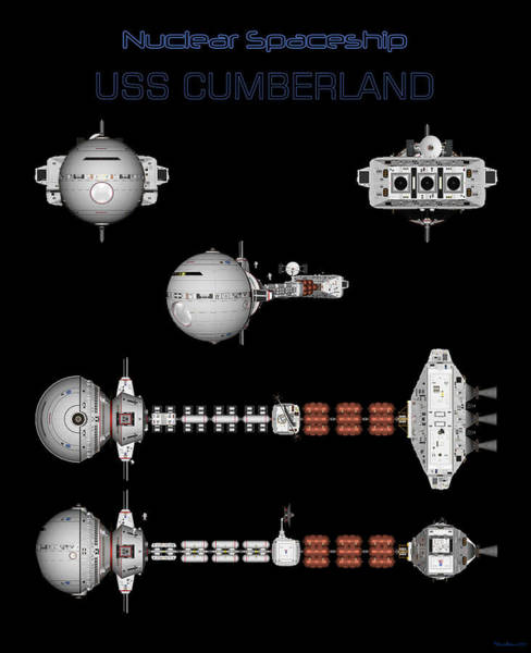 Digital Art - 5 Views Of The Uss Cumberland by David Robinson