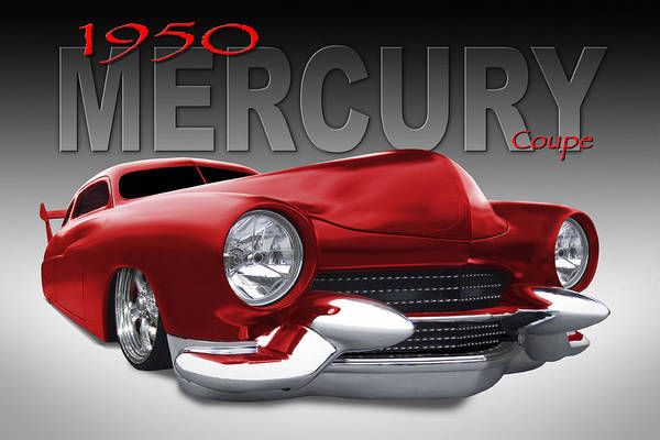Coupe Photograph - 50 Mercury Lowrider by Mike McGlothlen