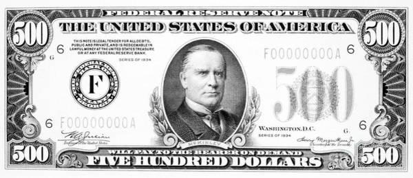 Photograph - 500 Dollar Bill by Granger