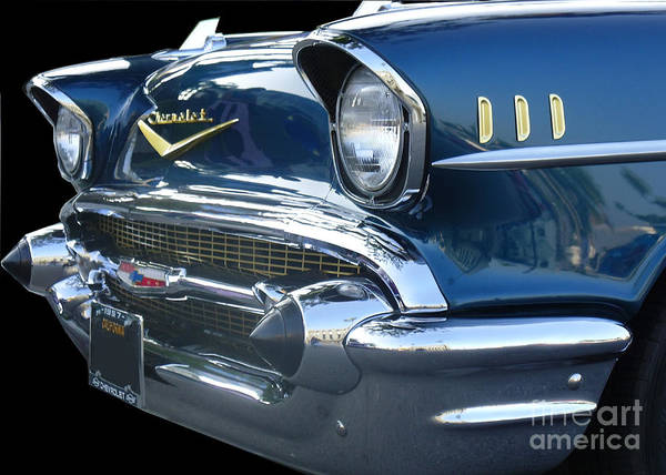 1955 Chevy Digital Art - 57 Chevy Bel Air Hardtop Front by Kerry Browne