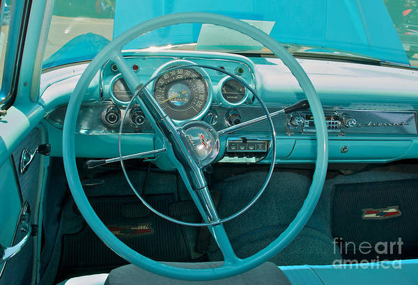 57 Chevy Bel Air Interior 2 Art Print