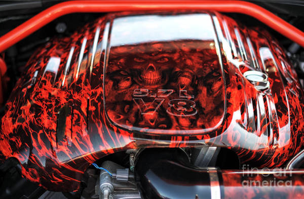 V8 Engine Wall Art - Photograph - 5.7l V8 by John Rizzuto