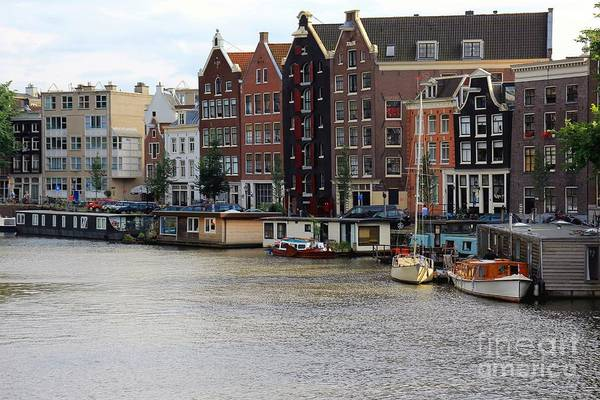Houseboat Photograph - Amsterdam by Sophie Vigneault