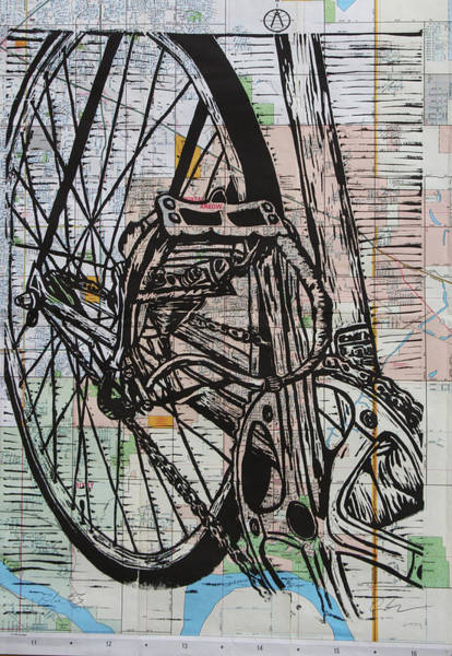 Drawing - Bike 3 by William Cauthern