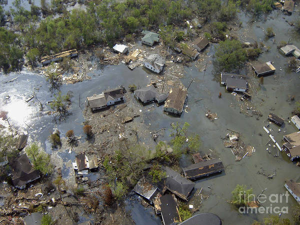 Wall Art - Photograph - Hurricane Katrina Damage by Science Source