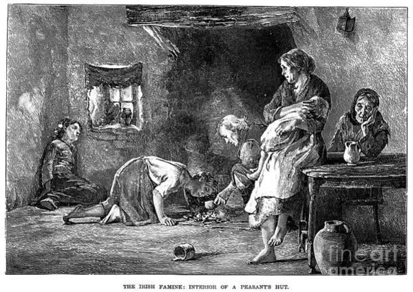 Photograph - Irish Potato Famine, 1846-7 - To License For Professional Use Visit Granger.com by Granger