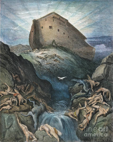 Drawing - Noahs Ark by Gustave Dore