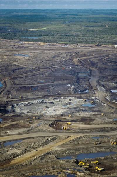 Excavator Photograph - Opencast Mine, Athabasca Oil Sands by David Nunuk
