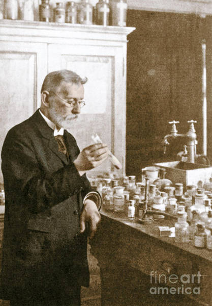 Wall Art - Photograph - Paul Ehrlich, German Immunologist by Science Source