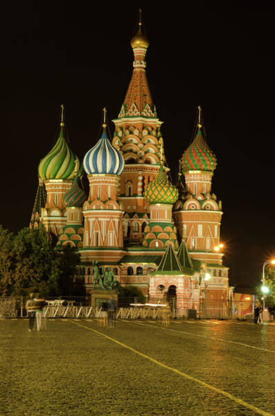 Photograph - Red Square In Moscow At Night by Michael Goyberg