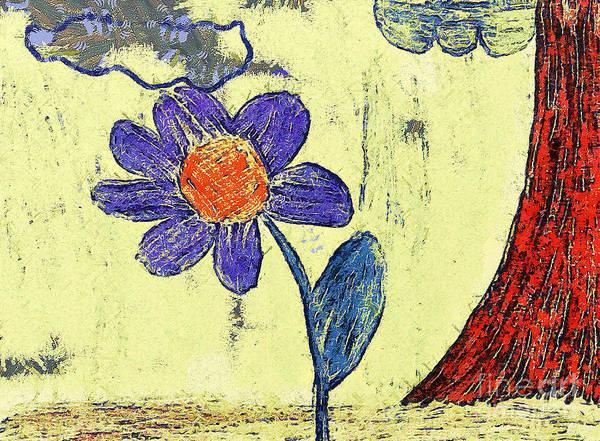 Gitana Wall Art - Painting - The Flower by Odon Czintos