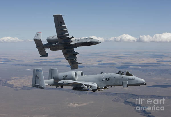 Armament Photograph - Two A-10 Thunderbolts Fly by HIGH-G Productions