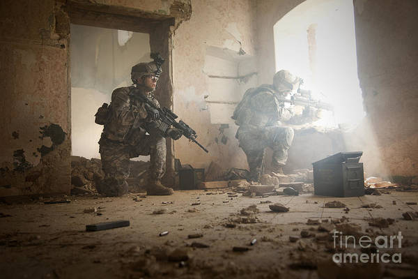 Photograph - U.s. Army Rangers In Afghanistan Combat by Tom Weber
