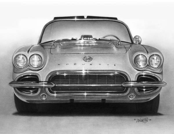 Drawing - 62 Corvette by Tim Dangaran