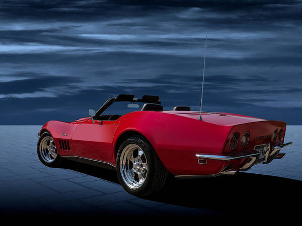 Chevy Corvette Wall Art - Digital Art - 69 Red by Douglas Pittman