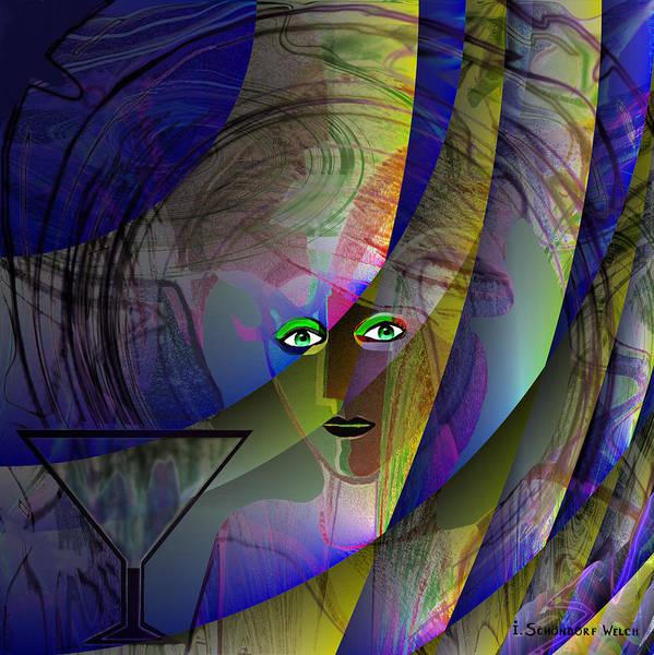 Semis Digital Art - 691 - Lady Blue Eyes by Irmgard Schoendorf Welch