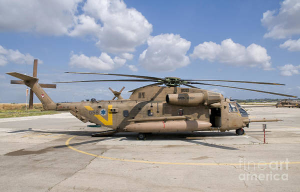 Yasur Photograph - A Sikorsky Ch-53 Yasur Of The Israeli by Giovanni Colla