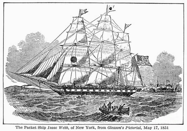 1851 Photograph - Clipper Ship, 1851 by Granger