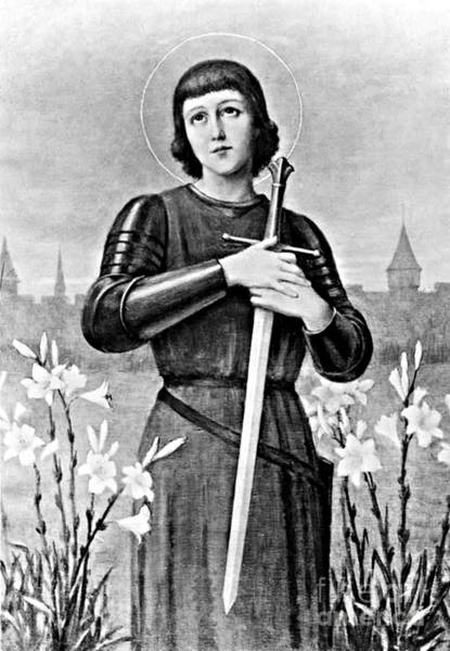 1431 Photograph - Joan Of Arc, French National Heroine by Photo Researchers