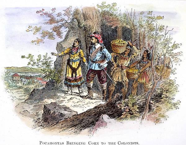 Royal Colony Photograph - Pocahontas (1595?-1617) by Granger