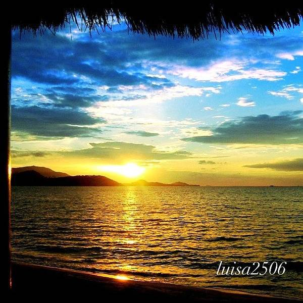 Travel Photograph - Tropical Sunset by Luisa Azzolini