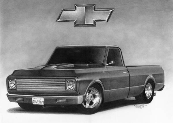 Drawing - 70 Pickup by Tim Dangaran